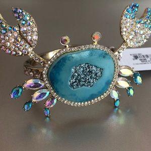 Betsy Johnson Crab Snap-On Bracelet